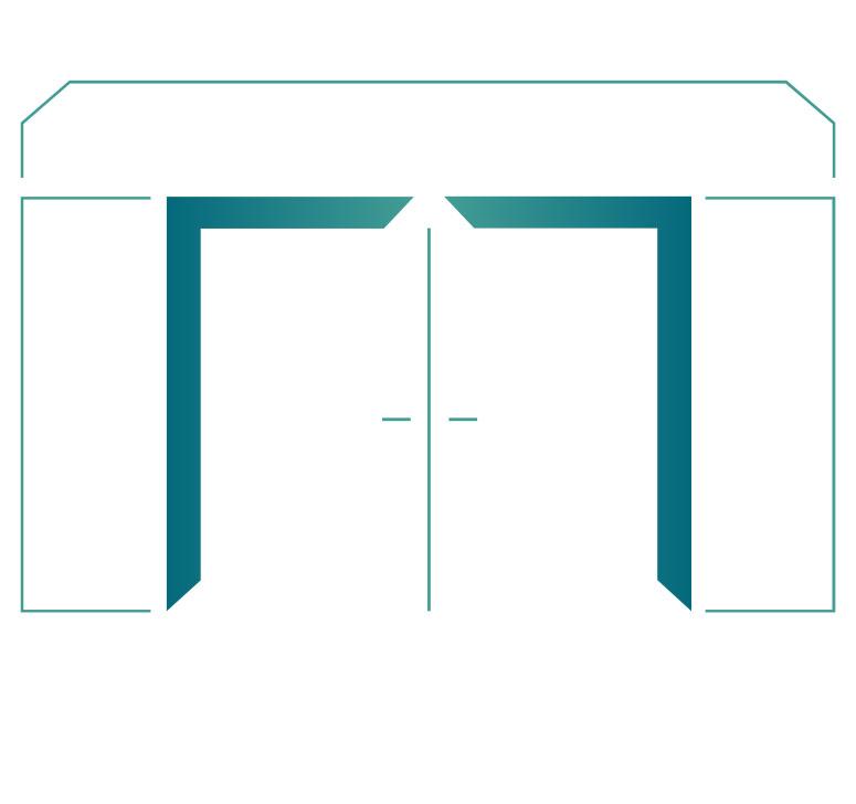 Sperrtür mit Ober-/Seitenteile Sonderform schräg 2-Flügelig
